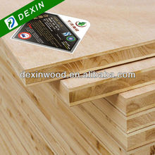 Pine/Fir/Paulownia/Falcata Core 19mm Thickness Block Board/19mm Thickness Blockboard