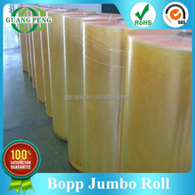 Alibaba Purchasing Season Hotest Packing Products 1280MM Acrylic Adhesive Bopp Gum Tape Jumbo for Slitting