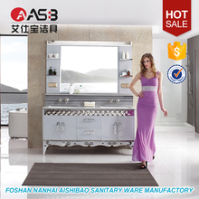 Solid Foam Board Packaging Luxury 60 White Bathroom Vanity Photo Furniture Hotel Bath