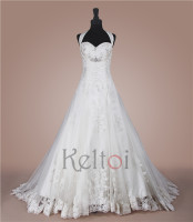 real photo halter see through japanese style bling wedding dresses