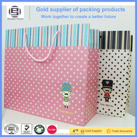 Decorative colorful recyclable paper bag for shopping or gift