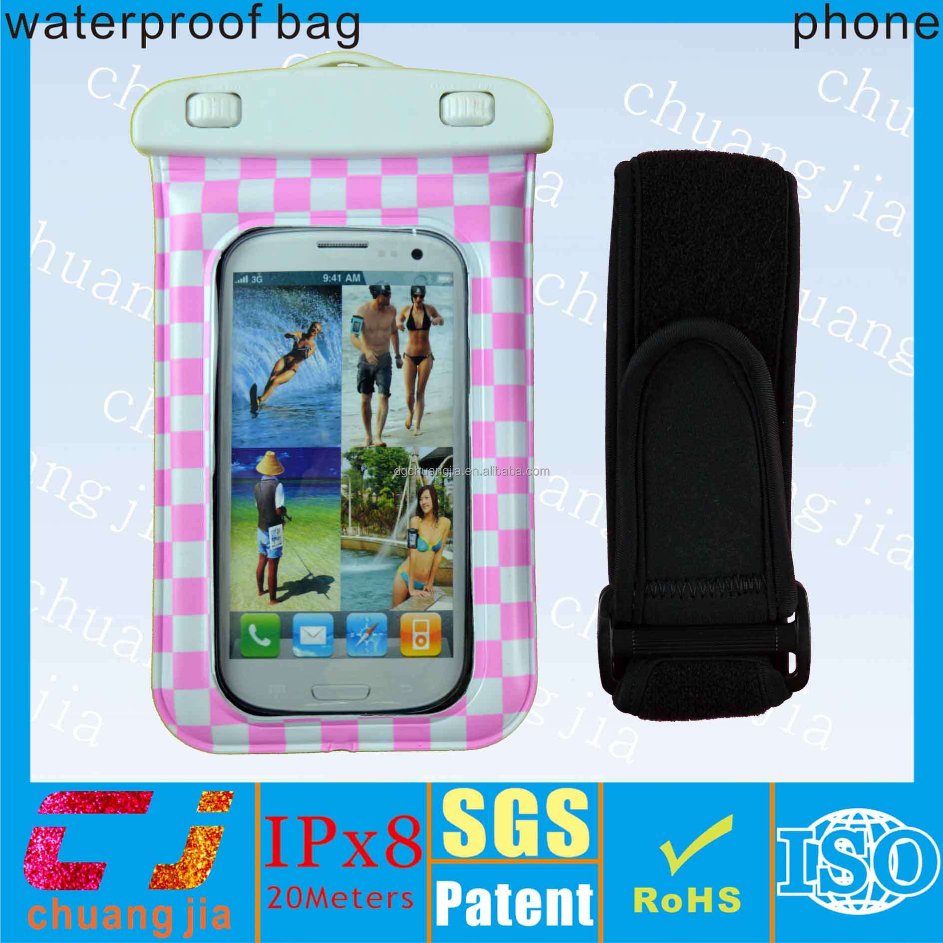China supplier cell phone waterproof bag for s4