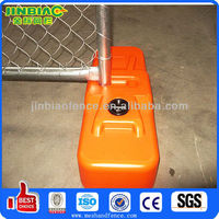 plastic base temporary construction site fence