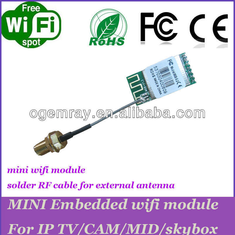 Cheaper 150Mbps USB wifi module/ AP module solder RF cable for external antenna