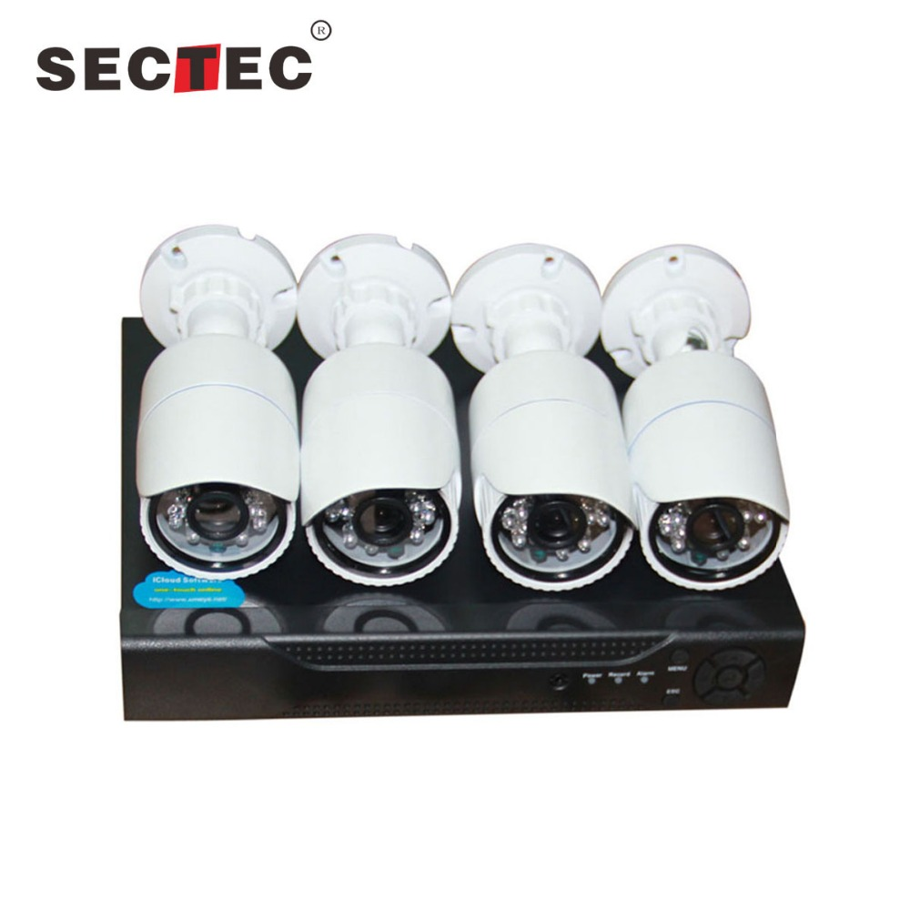 Hot selling sectec 4ch 960P H.264 High profile ahd hd 4k video cctv camera system dvr