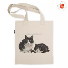 100% Eco-Friendly Promotional Printed Natural Calico Canvas Cheap Shopping Cotton Tote Bag Wholesale