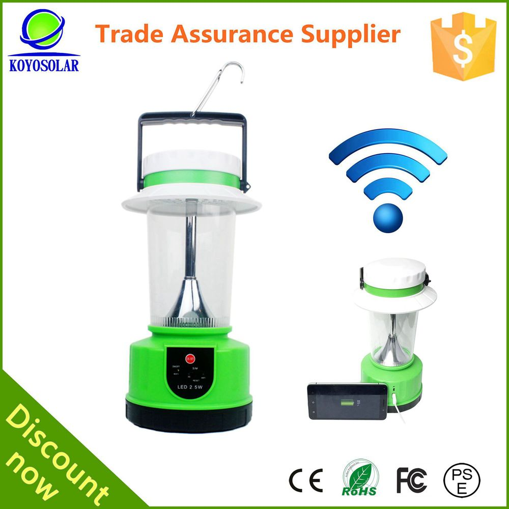 offer wifi hot-spot high-end camping solar lantern with mobile phone charger
