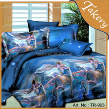 100% polyester 3d bedding sets 4 pcs set Stock bedding sets