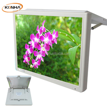 17inch 24v voltage input bus lcd flip down monitor tv with android / wifi function