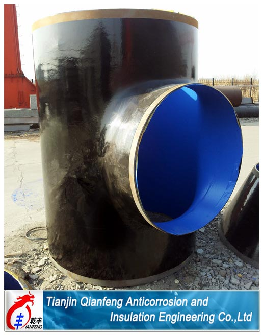 pipe fittings with solid rigid polyurethane coating tee elbow reducer cap flange bend