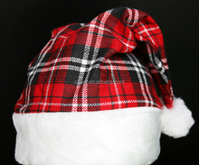 New Style Plaid satan hat plush brim