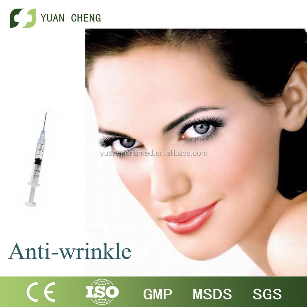 2016 China Face Use Injectable HA Dermal Filler for top skin Wrinkle Finelines 1ml