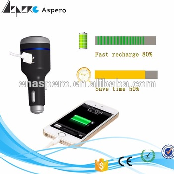 New design USB 2.4A Car fast Charger 12v solar car battery charger For IOS &smart phones