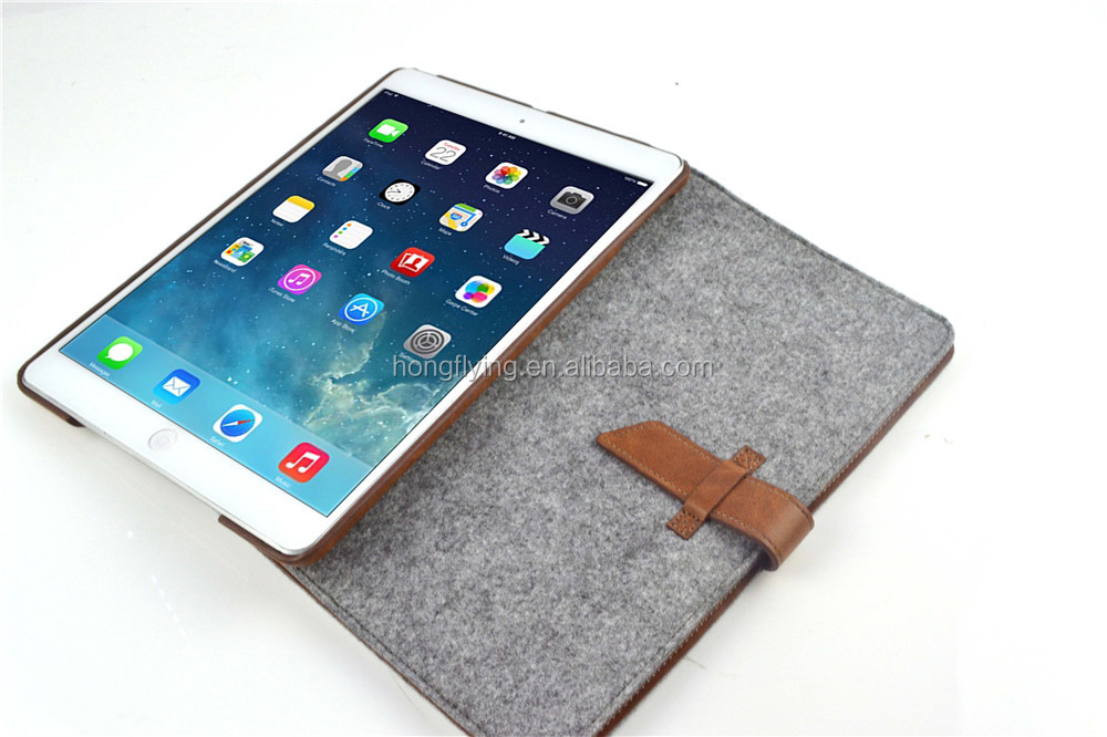 special retro style nice hot selling deft convenient felt case for ipad 5