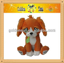 CW 2013 new designs two colors big eyes dog soft toy
