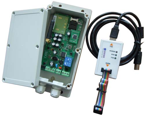 GSM-KEY SMS relay controller for electric gate opener DCversion
