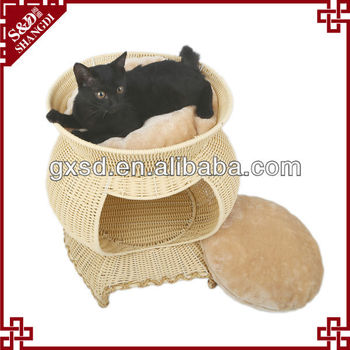 Pet accessory Eco-friendly handmade unique cheap cat house