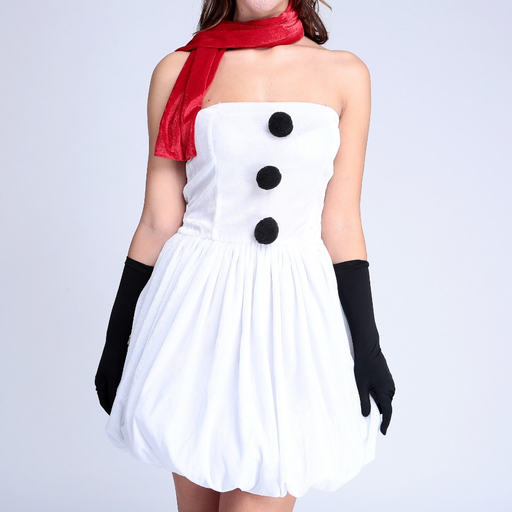 Exquisite high quality white white christmas party costumes