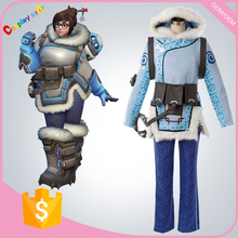 hot game Overwatch Mei Cosplay Costume Suit Outfit Adult Women's gamer Halloween outfits