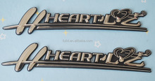 ABS chrome car nameplate, plastic car emblem letters