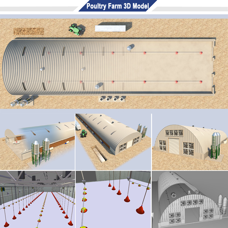 Poultry farm building business house plan in china