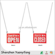 Unique design acrylic open closed door signs