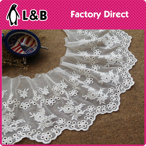 2017 new design custom embroidery Lace fabric for ladies dress
