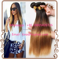 Wholesale cheap 100 human hair wavy ombre unprocessed virgin brazilian hair