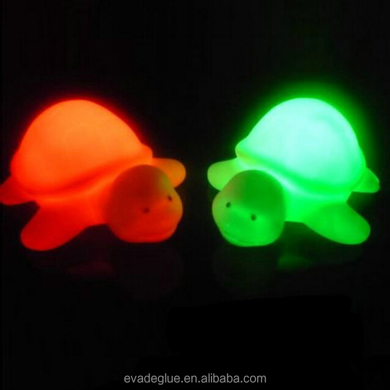 Turtle Led Night Light Lamp Color Changing Vinyl Tortoise Lighting Flash Lights Lamps Toys