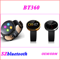 1.22 inch IPS touch screen 1.3MP camera GSM quad band unlocked smart watch phone BT360