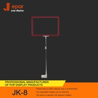 Your fashion design JK-8 supermarket price tablet stand with a4 plastic frame