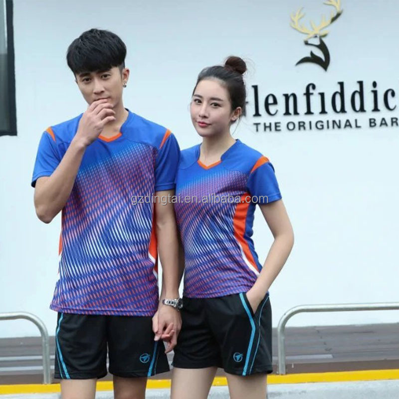 Couple's china sports badminton wear, high quality sportswear volleyball shirt