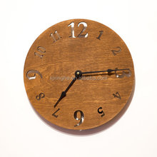 Digital wood crafts wall clock in natural wooden color