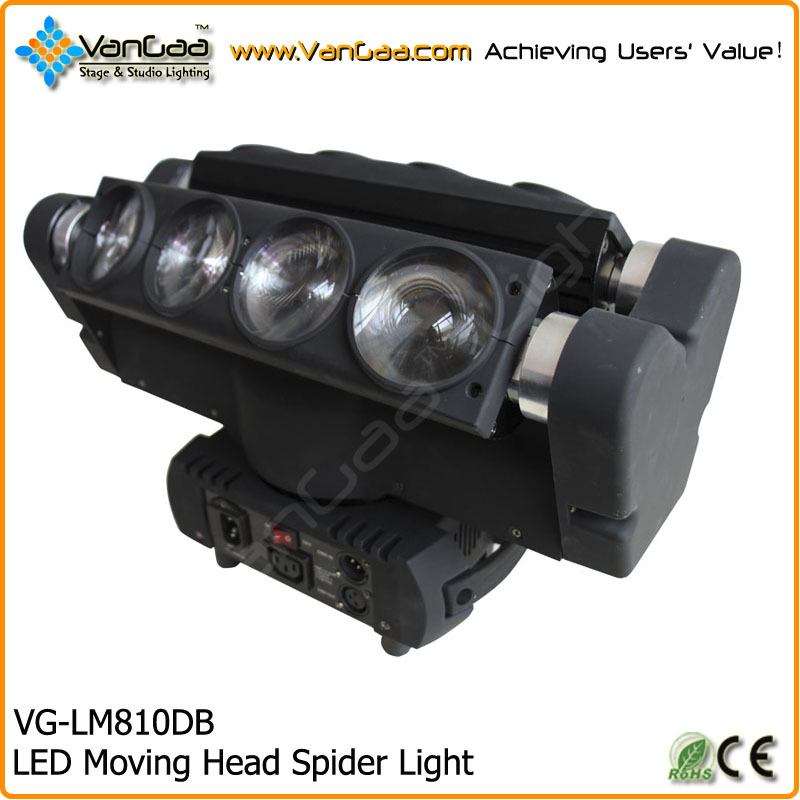 High quality 4-in-1 RGBW LED Moving Head Spider Beam 90W LED Light With Excellent Beam Effect
