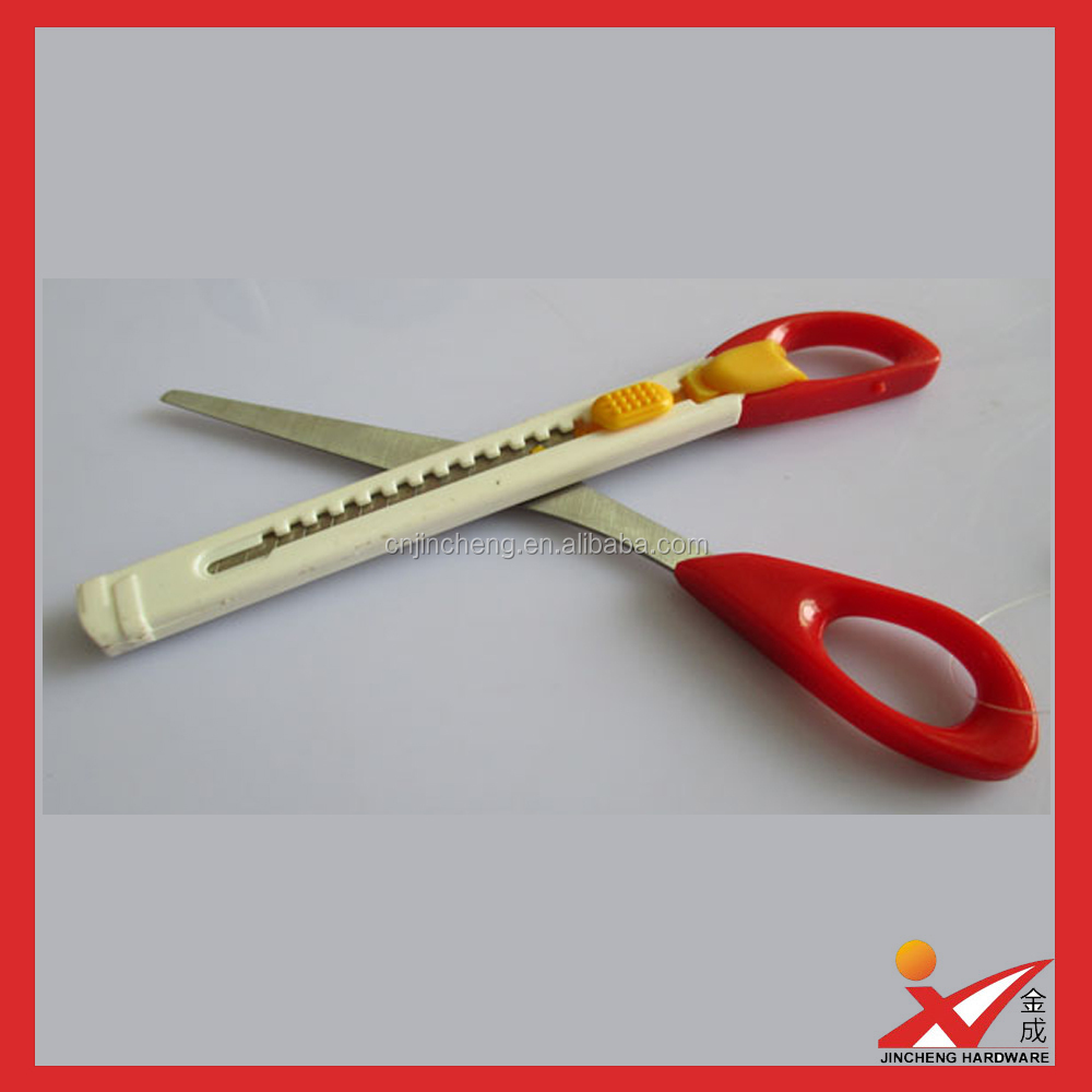 new style hot sale malfunctional scissors with pen knife