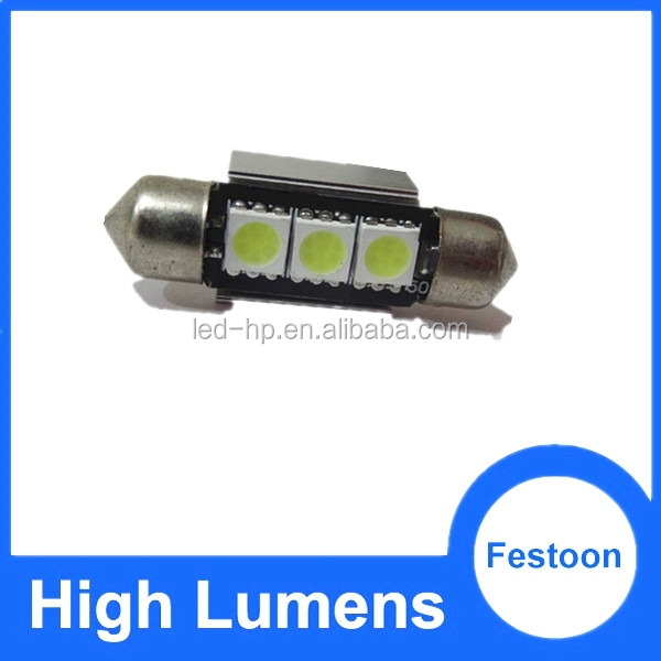 DC12V super bright!! led auto light five color available no polarity festoon led car interior lamp