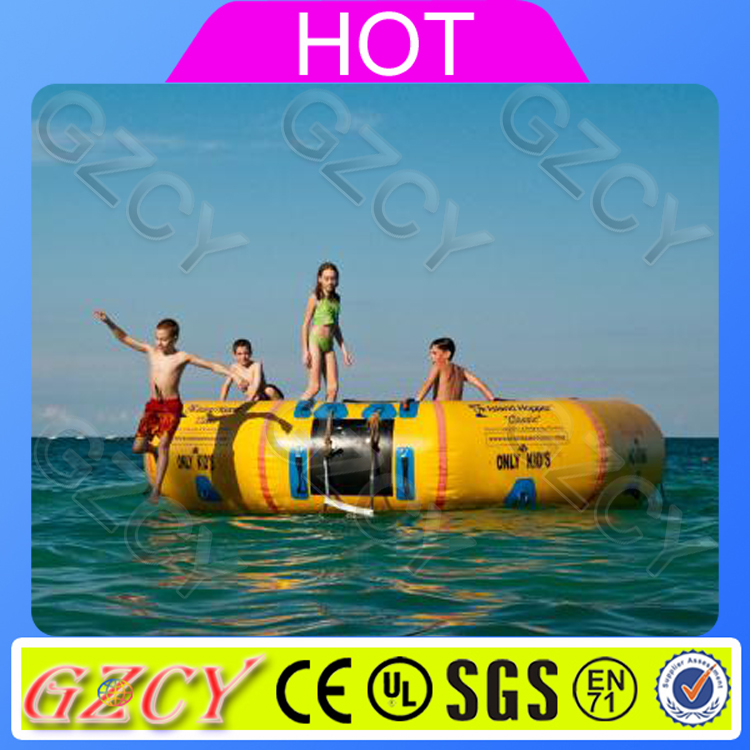 Outdoor Water Sport Games Water Park Trampoline For Lake