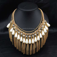 Metal chain Fringe Statement Necklace jewlery necklace wholesale
