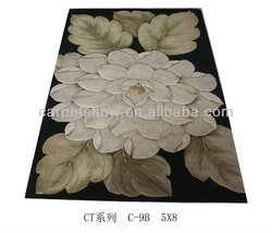 home rug/flower pattern wool rug