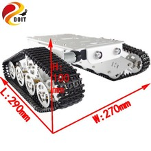 Official DOIT T300 Aluminum Alloy Metal Robot Tank Chassis Track Car Frame Platform Crawler DIY RC Toy