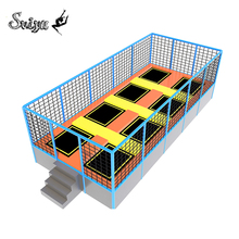 EU Standard fitness park Cheap commercial competition rectangle kids jump safe playground indoor exercise trampoline for sale