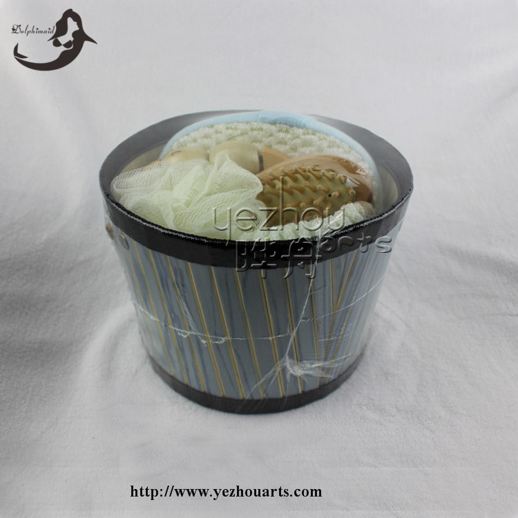 Wholesale bamboo bucket bath gift item