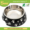 Stainless Steel ceramic travel dog bowl