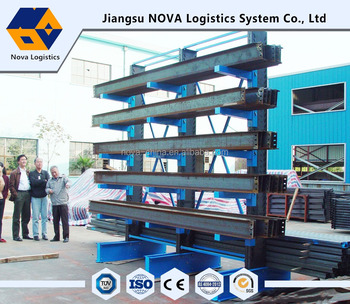 ISO9001&CE Cantilever Rack , Long pipe racking / Warehouse Storage Metal Cantilever Racking