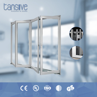 high quality latest design aluminium alloy folding partitions glass for bathroom