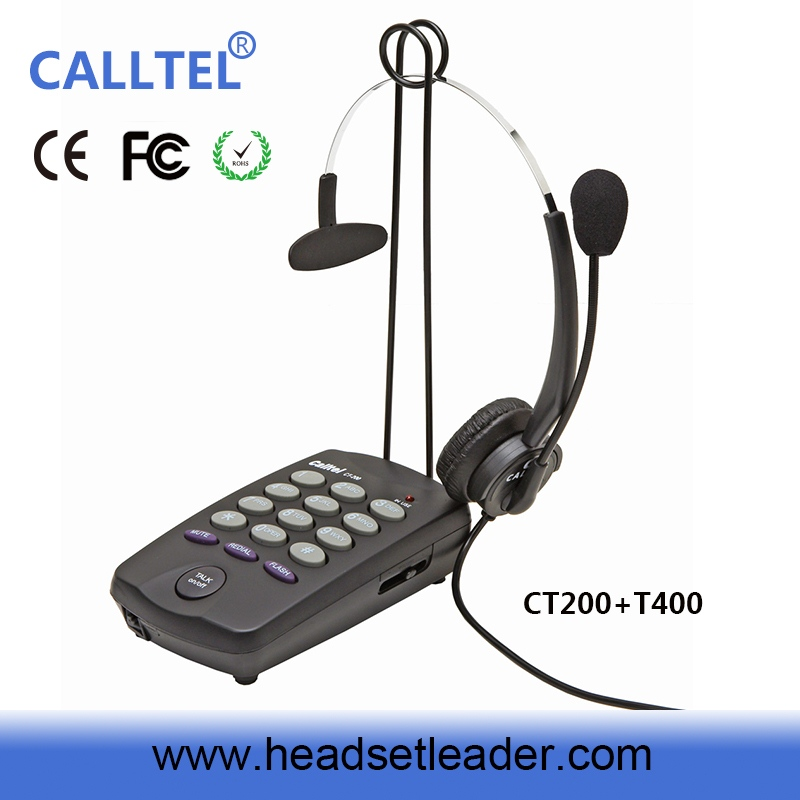 Headset for inbound system caller id box