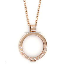 5% DISCOUNT 33mm coin Locket Necklace Diamond Locket Floating Charm Locket HPYP1690