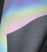 high quality multicolor reflective leather