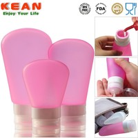 china manufacturer reusable portable silicone travel bottle/Bath And Body Works