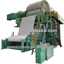 1880mm cost of tissue paper machine waste paper recycling plant, paper manufacturing plant making machine